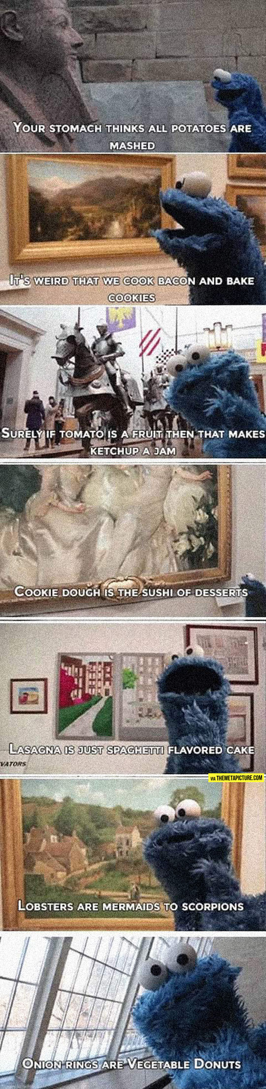 Some Shower Thoughts From Cookie Monster