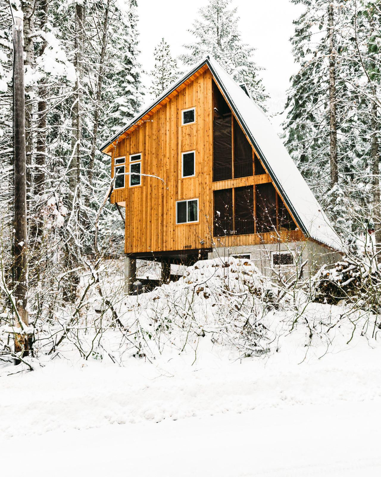 A cabin in the Cascade Mountains, Washington