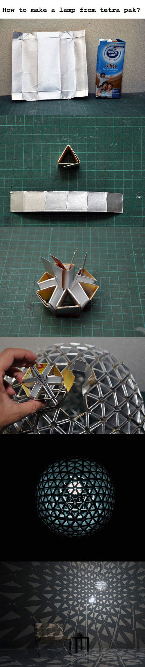 Creating a lamp from Tetra Pak