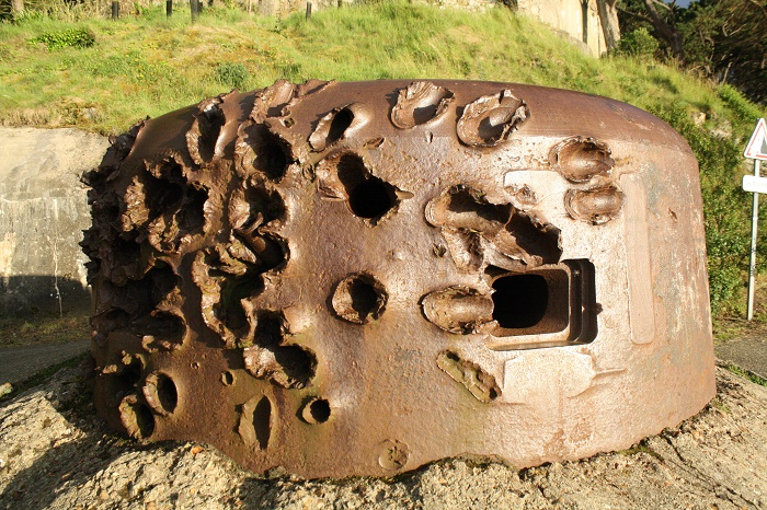 German gun turret from WWII in France