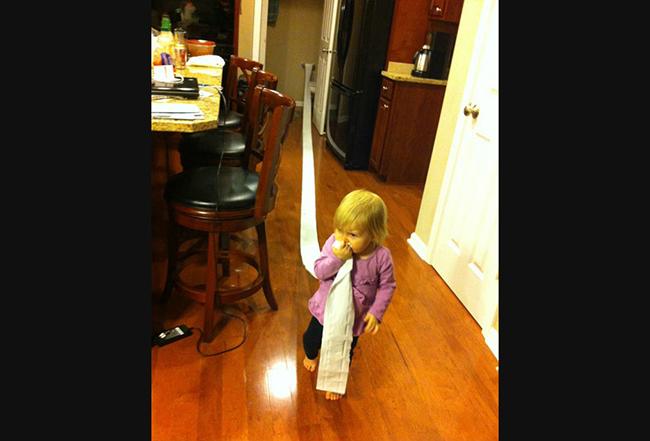 My niece needed a tissue