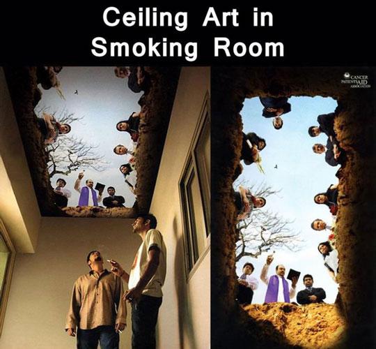 Smoker Room Ceiling