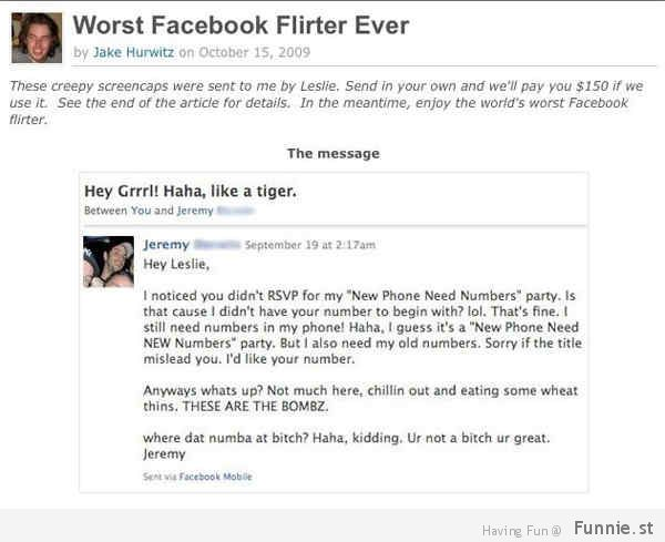 flirting signs on facebook profile photos:
