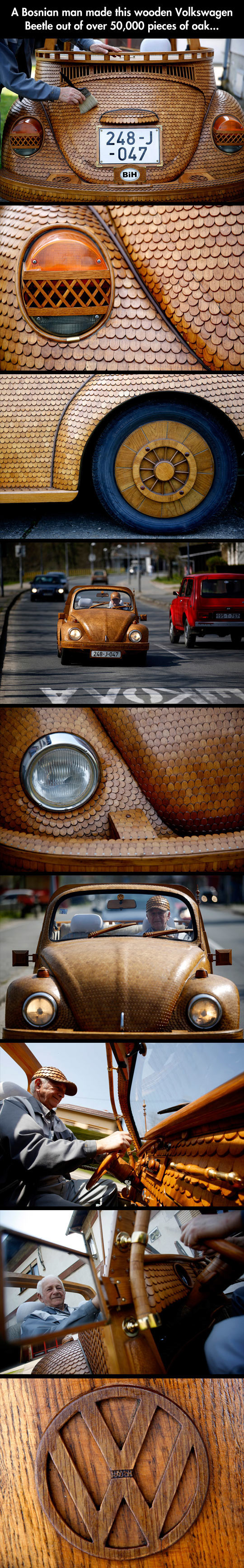 Epic Wooden Volkswagen