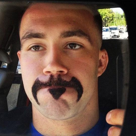 cool-Batman-sign-mustache-selfie