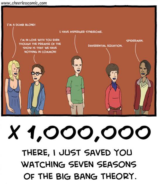 The Big Bang Theory Summed Up