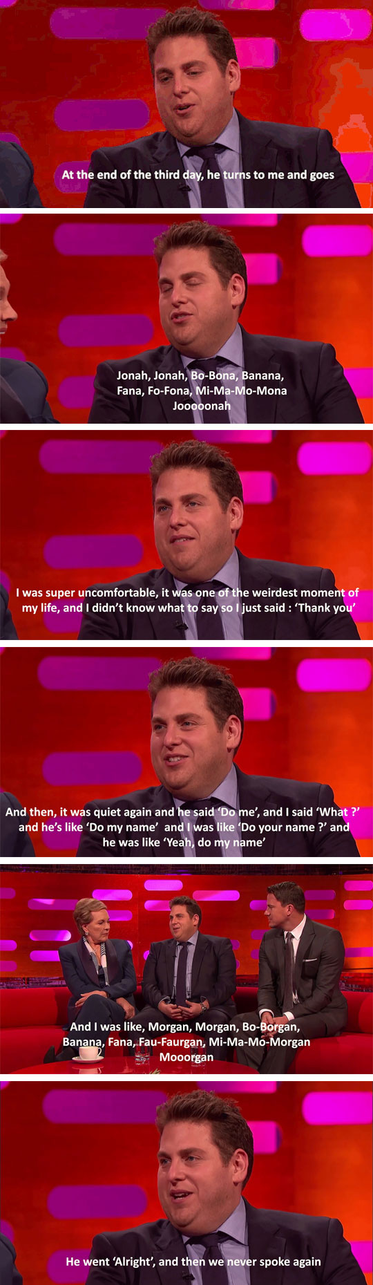 Jonah Hill Meets Morgan Freeman