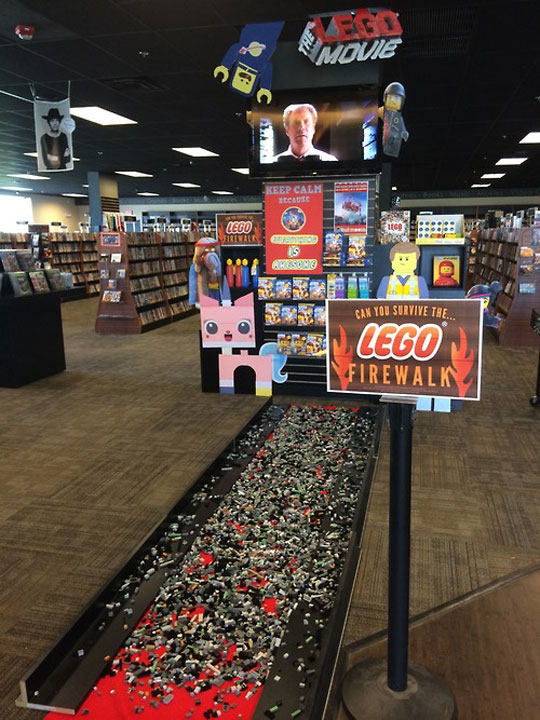 The LEGO Firewalk