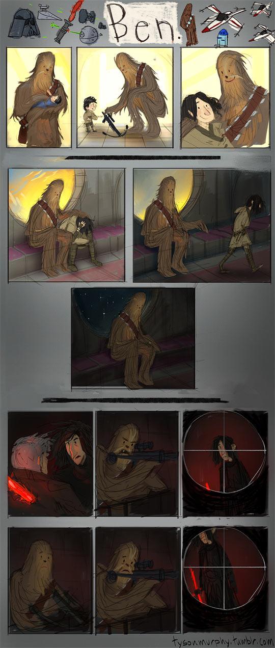 cool-Star-Wars-comic-Ben-Chewbacca