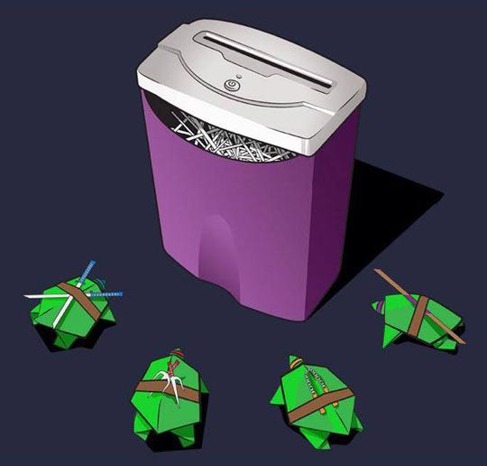 Paper Teenage Mutant Ninja Turtles