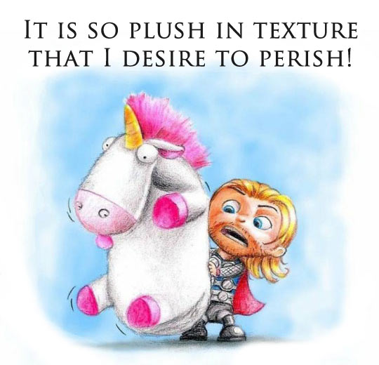 Little Thor Finds A Fluffy Unicorn