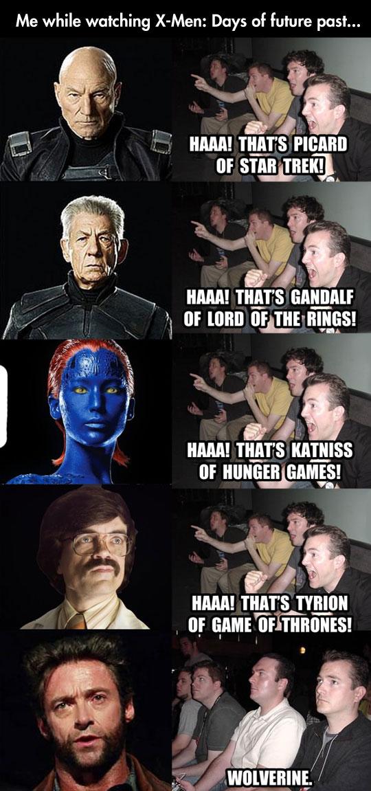 While Watching X-Men