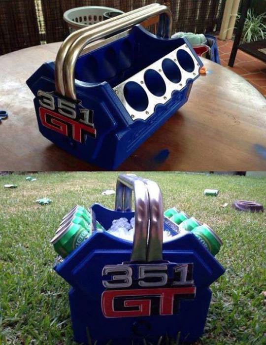 Beer Cooler Engine, I Need This In My Life