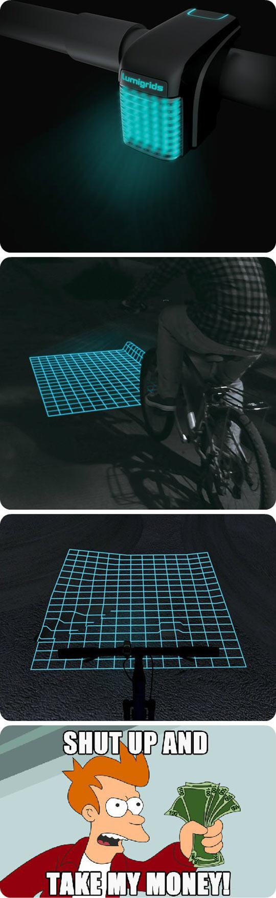 cool-bike-light-grid-night