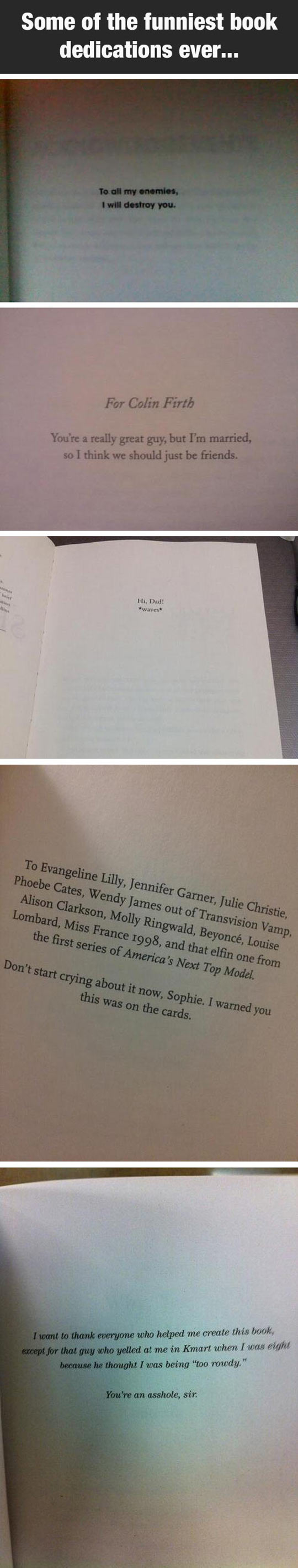 Some Of The Best Book Dedications Ever