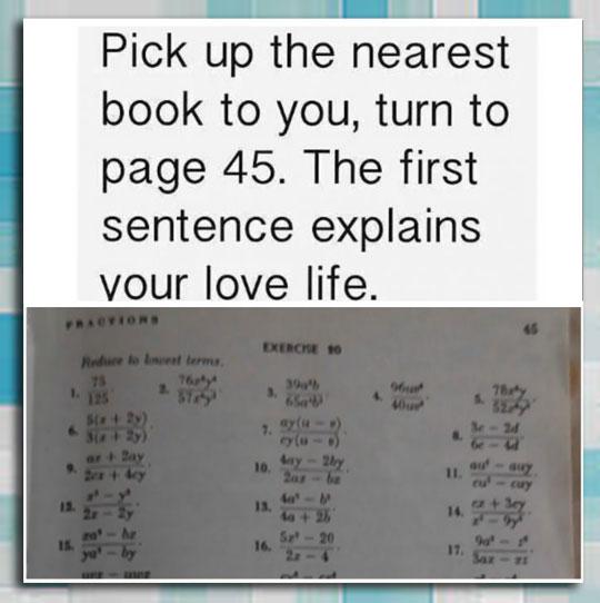It Explains Your Love Life