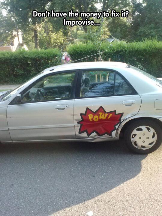 cool-car-sticker-Pow-door