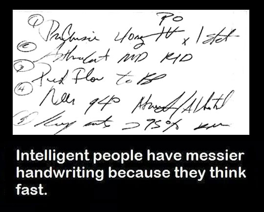 It Explains My Handwriting