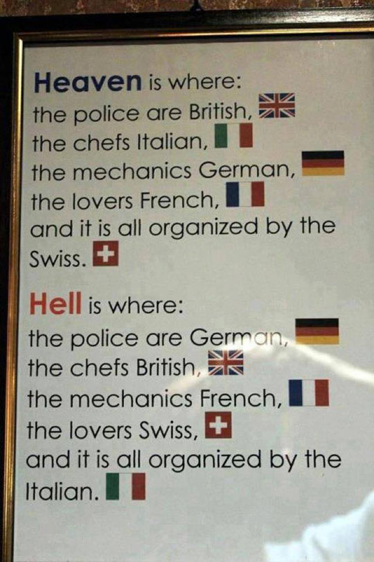 The Very Definition Of Heaven And Hell