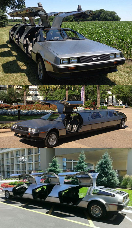 A Special Limo Made From Three Deloreans