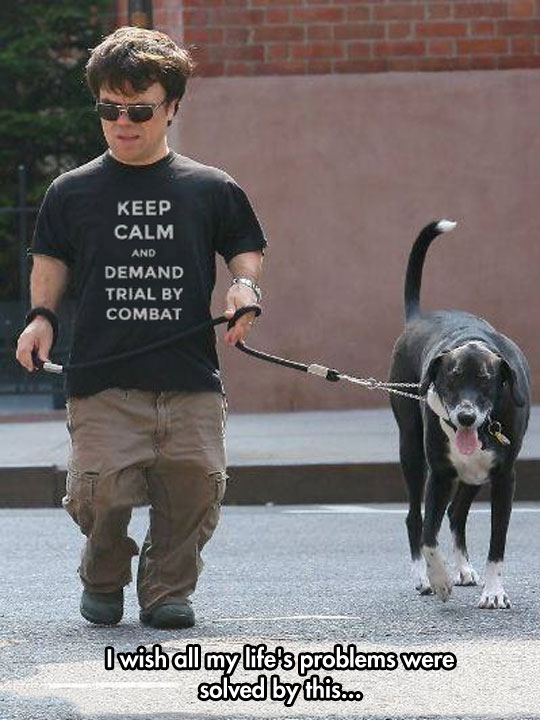 Like They Say, A Lannister Always Walks His Pets