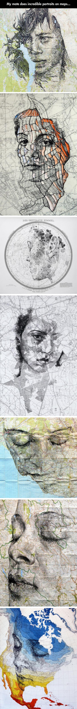 Beautiful Portraits On Maps