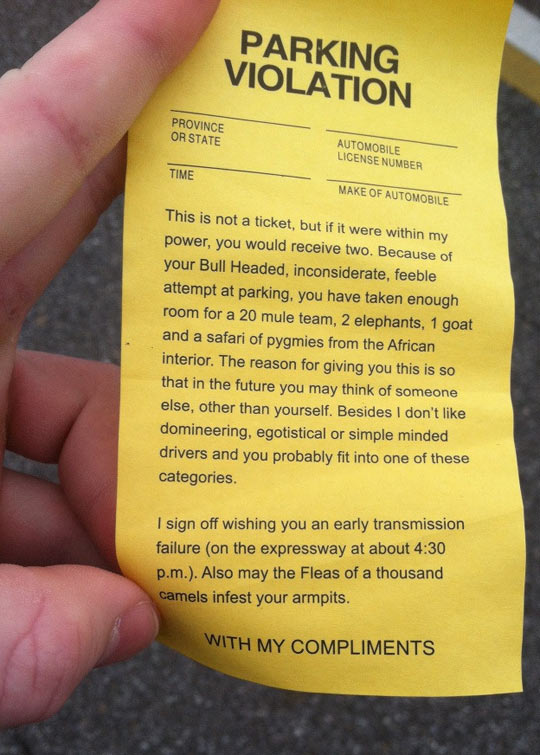 cool-parking-ticket-compliment-angry