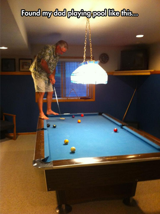 He May Have Invented A New Sport Table Golf - Buy my pool table