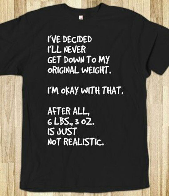 My Original Weight Goal