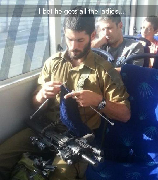 cool-soldier-knitting-weapon-bus