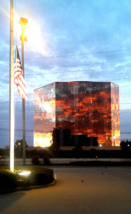Sunset Reflected On Building