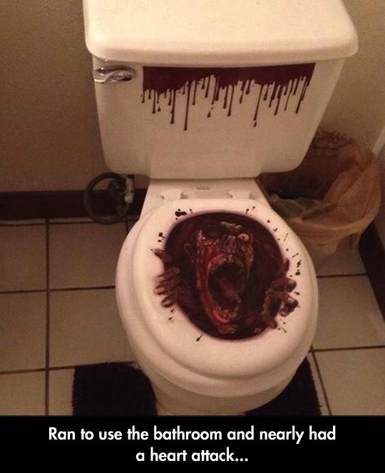 Toilet Heart Attack