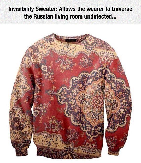Invisibility Sweater