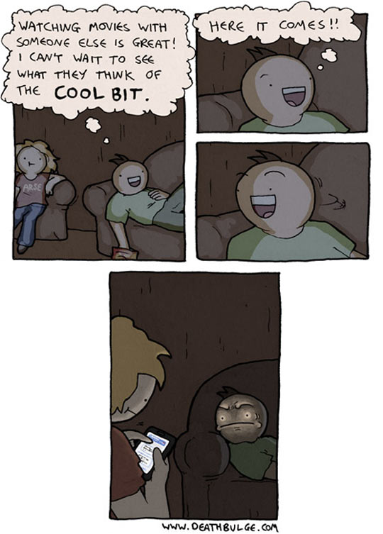Watching A Movie With Someone Else