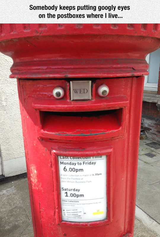 Googly Postbox