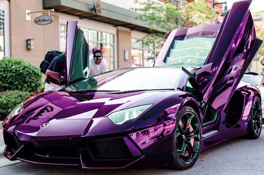 Purple Lamborghini That Would Make Prince Go Nuts