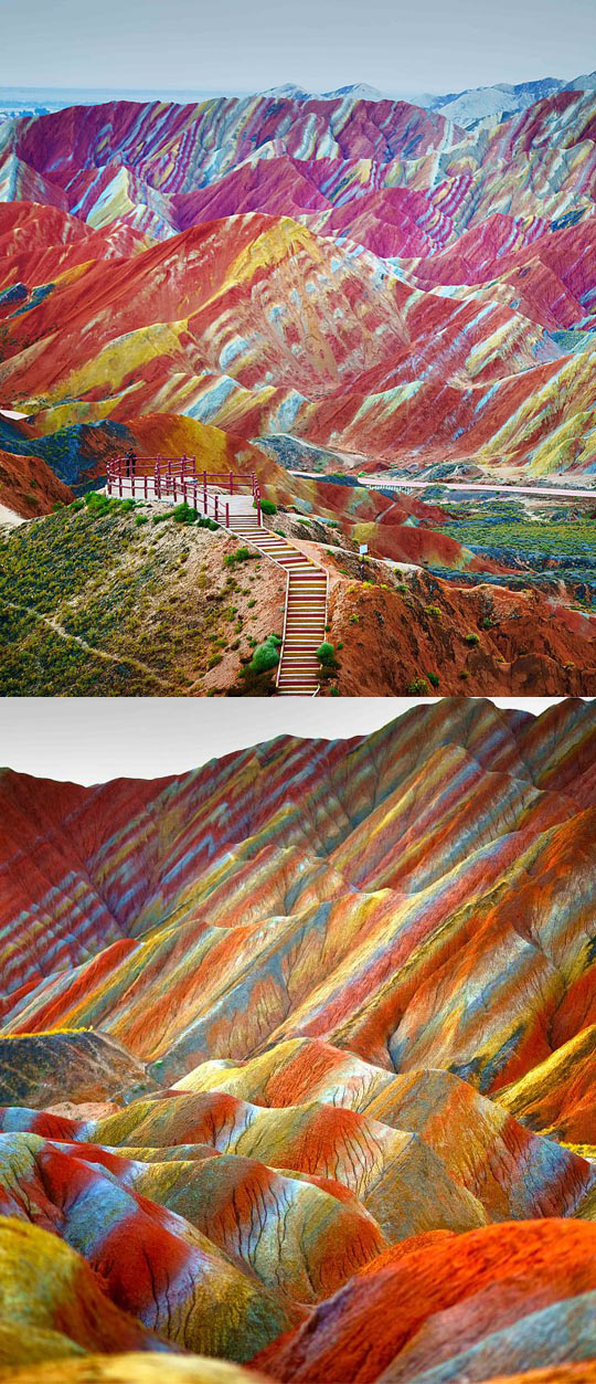 rainbow-mountains-China-colors