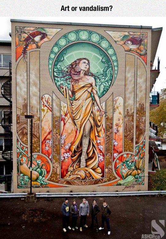 Alphonse Mucha Graffiti