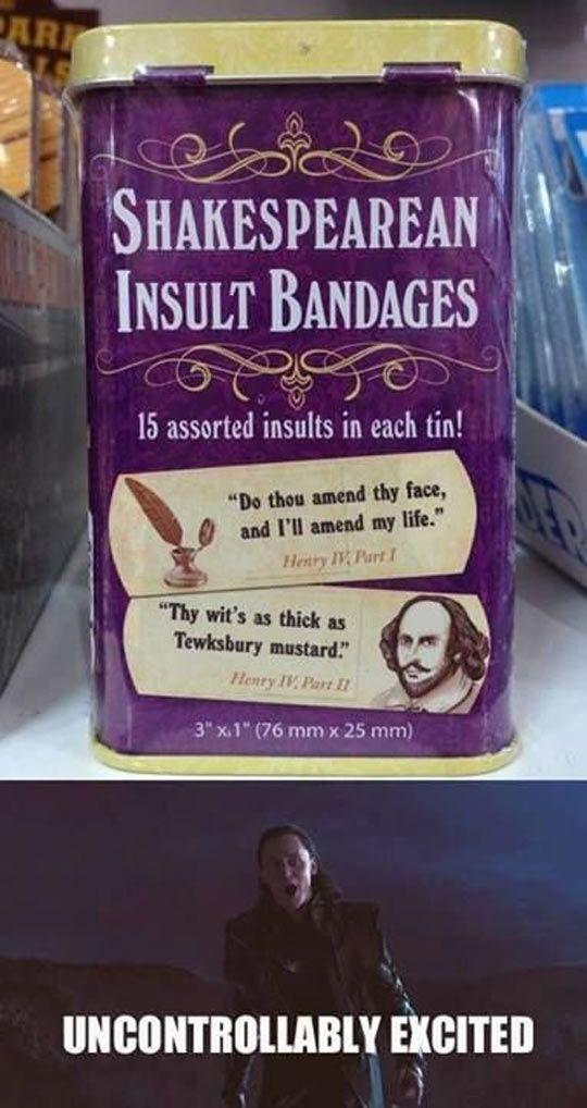 Awesome Shakespearean Bandages