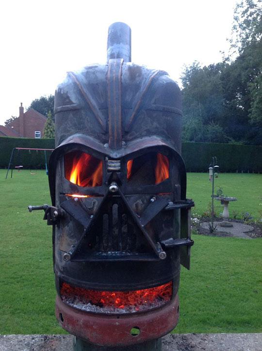 Epic Darth Vader Fire Pit