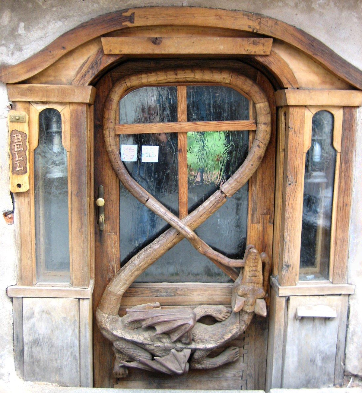Dragon door in the Czech Republic