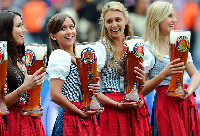 German soccer champs get their prize after a long season.