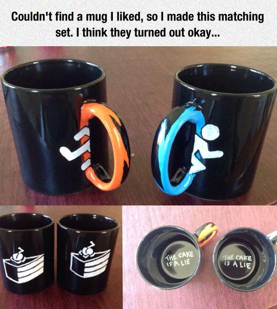 Homemade Portal Mugs