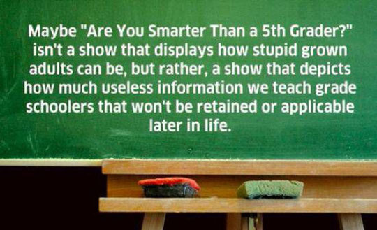 Smarter-5th-Grader-show-school-useless-information