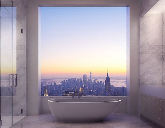 The View From The Bathroom Of A 95 Million Dollar NYC Apartment