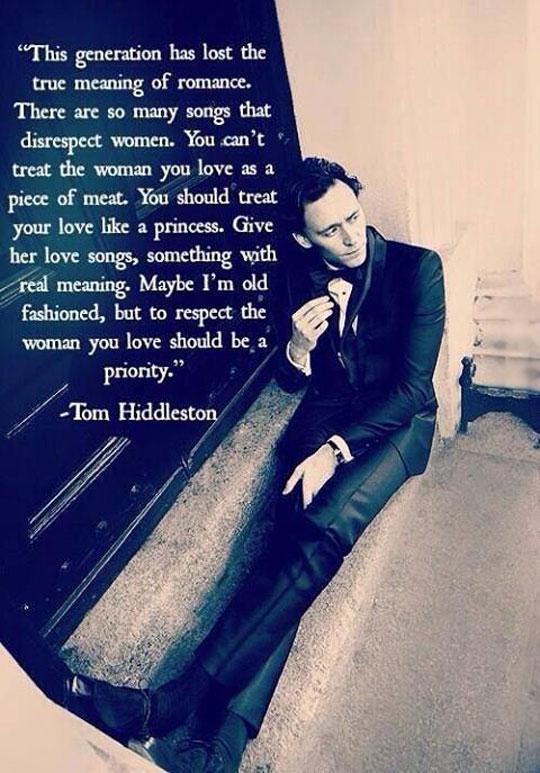 Tom Hiddleston On This Generation