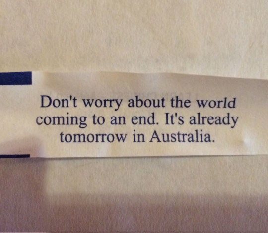 Worrying About The End Of The World