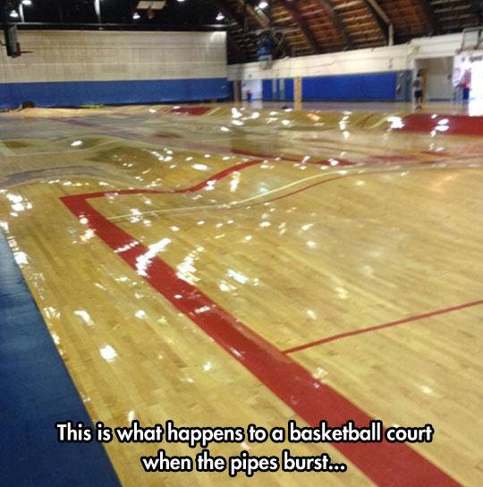 basketball-court-pipes-burst