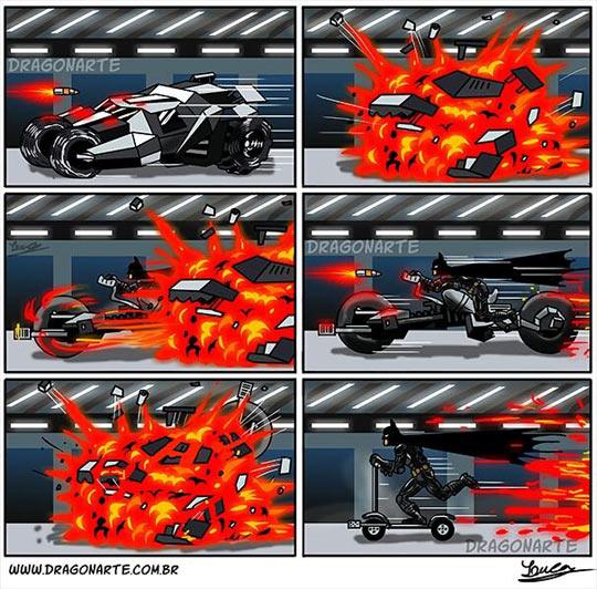 cool-Batman-car-destroyed-bike-comic