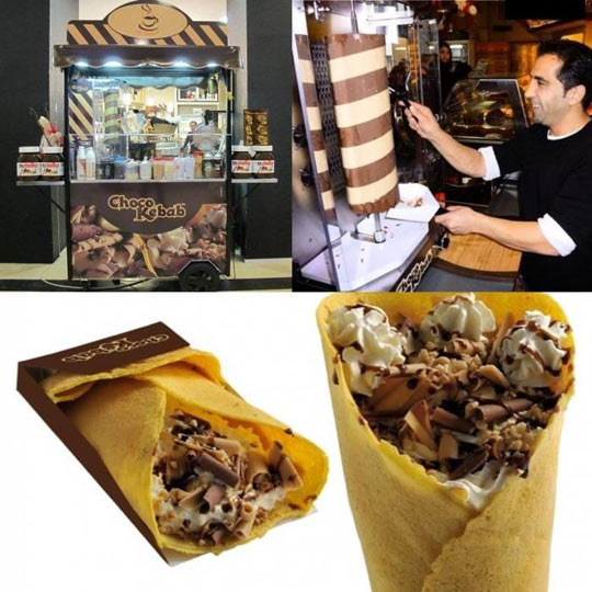 Delicious Choco Kebab In Germany
